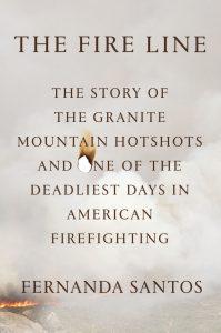 """Capa do livro """"The Fire Line"""", de Fernanda Santos"""