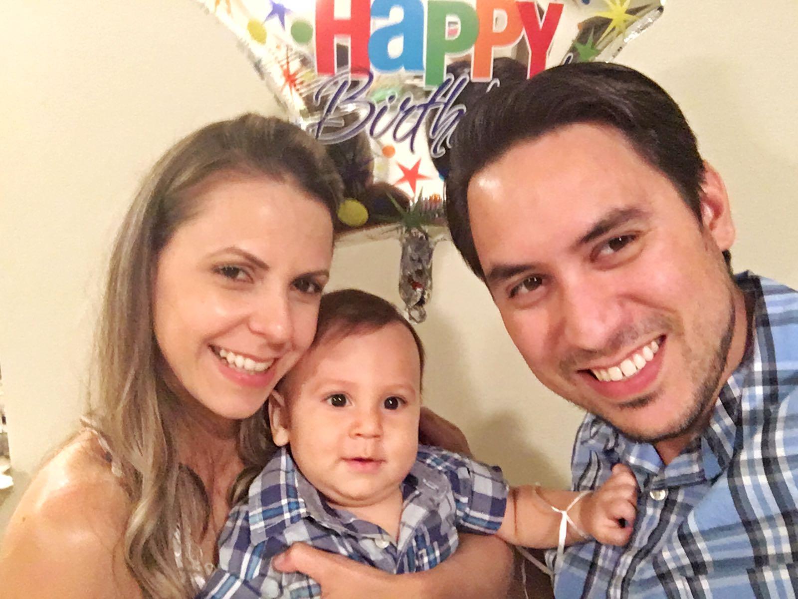 Renata e Rafael pedem ajuda para continuação do tratamento do filho