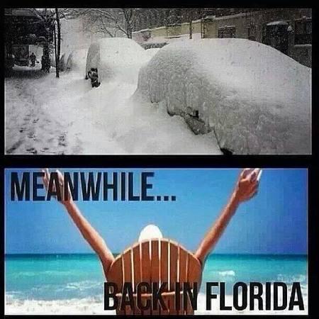 Meme sobre o inverno na Flórida