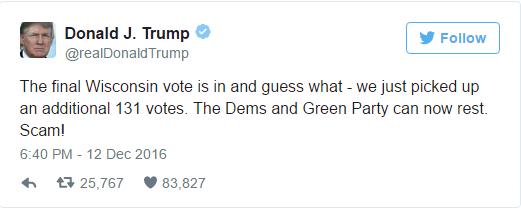 Trump comentou resultado no Twitter