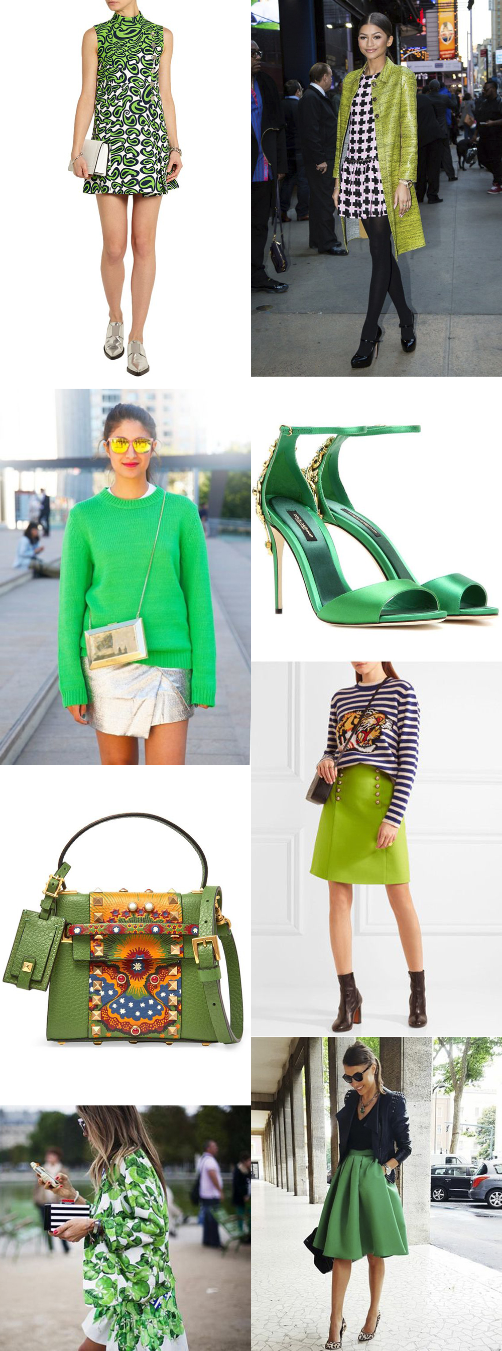 Greenery Fashion Looks
