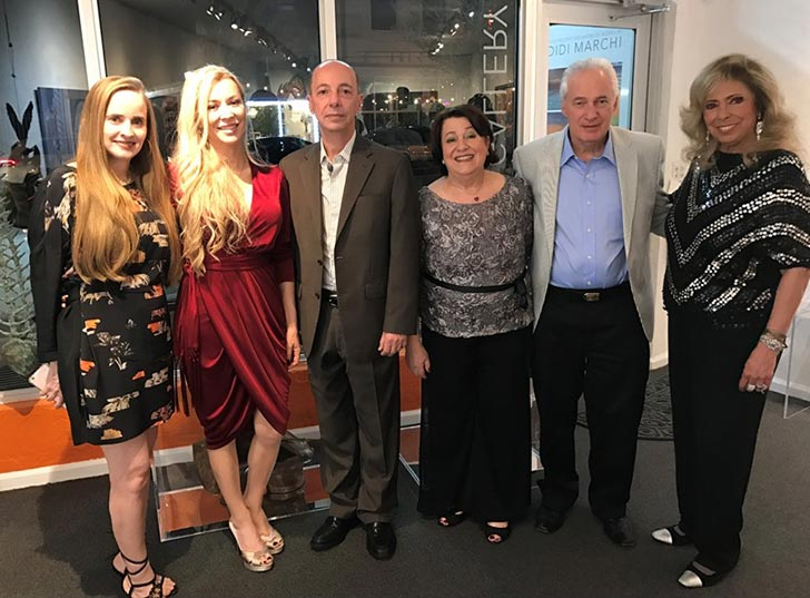 Fernanda Frangetto, Anna Mallmann, Adalnio Senna Ganem (Cônsul Geral do Brasil em Miami), Didi e Armando Marchi, e Amanda Delboni