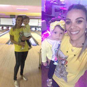Thamy Martins e a pequena Alicia