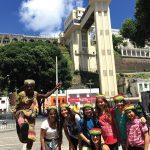Alunos da escola Ada Merritt de Miami mergulharam na cultura brasileira em Salvador, Bahia