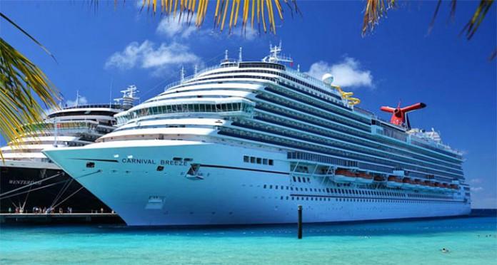 O navio Carnival Breeze, da operadora de cruzeiros Carnival