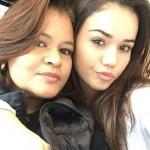 Anna Beatriz voltou para o Brasil acompahada de sua mãe