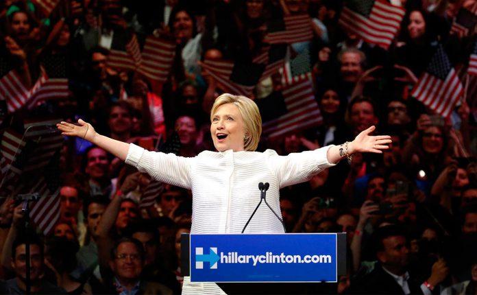 Hillary é a candidata do Partido Democrata