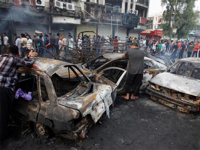 Atentado em Bagdá causou mortes e destruição (Foto REUTERS)