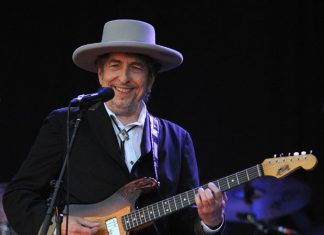 O ganhador do prêmio Nobel de Literatura Bob Dylan
