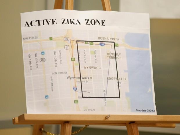 Zonas de risco para o vírus na FL