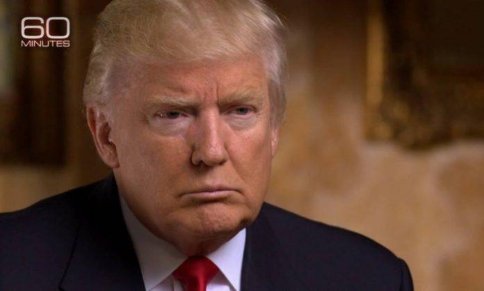 Donald Trump em entrevista à CBS