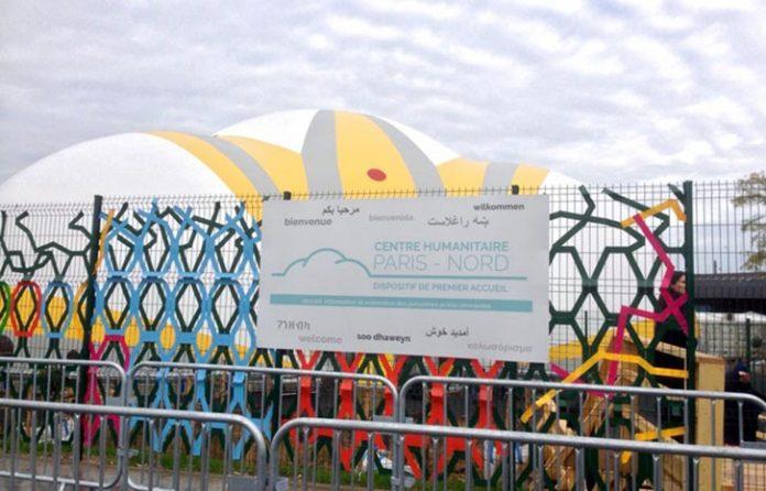 Centro Humanitário para imigrantes em Paris