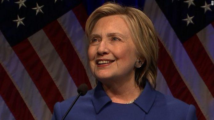 Hillary Clinton em evento em Washington