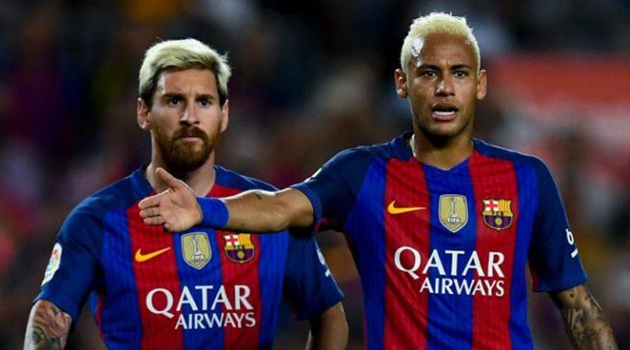 A dupla Messi e Neymar