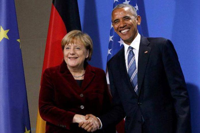 Obama e Angela Merkel