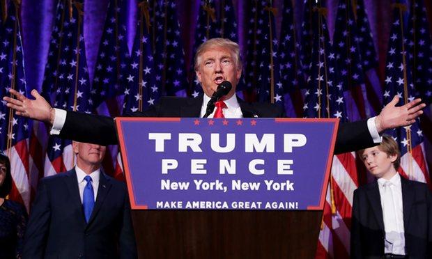 Trump em seu discurso de vitória em NY