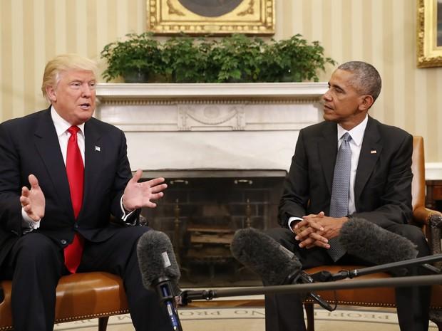 Donald Trump e Barack Obama se reúnem na Casa Branca Foto: AP Photo/Pablo Martinez Monsivais