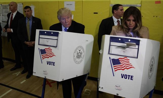 Trump votou no final da manhã em NY FOTO: AP