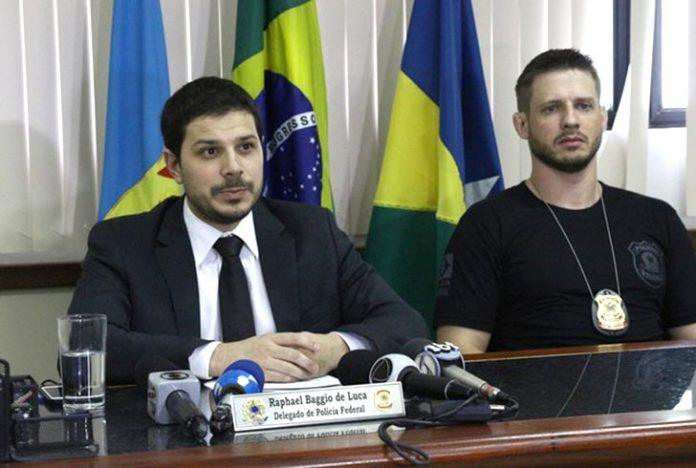 Delegado concedeu entrevista coletiva em Rondônia (Foto: Pâmela Fernandes/G1)