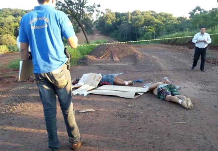 Corpos estavam em plantação de soja a 70 km da linha internacional
