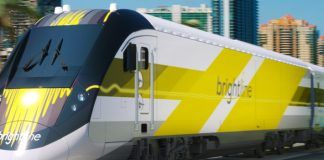 Trem da Brightline começou a operar no dia 13 de janeiro
