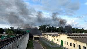 Presídio onde ocorreu o massacre em Manaus