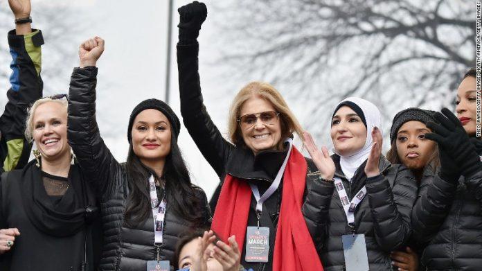 Líderes da macha pelas mulheres organizada em janeiro FOTO CNN