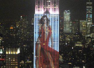 Gisele Bündchen é projetada no Empire State Building