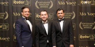 Ricky Terezi (d), com Carlos Ferreira e Cesar Rezer