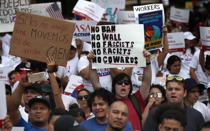 Manifestantes em Washington DC FOTO AFP