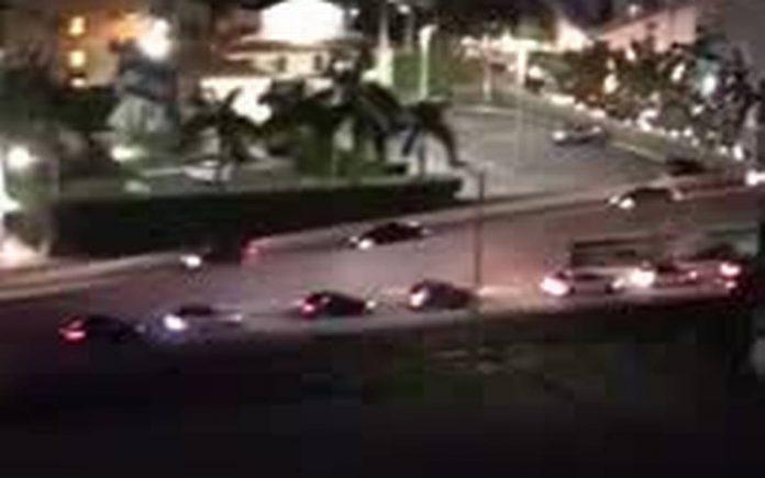 Houve perseguição pelas ruas de Miami