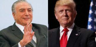 Michel Temer e Donald Trump
