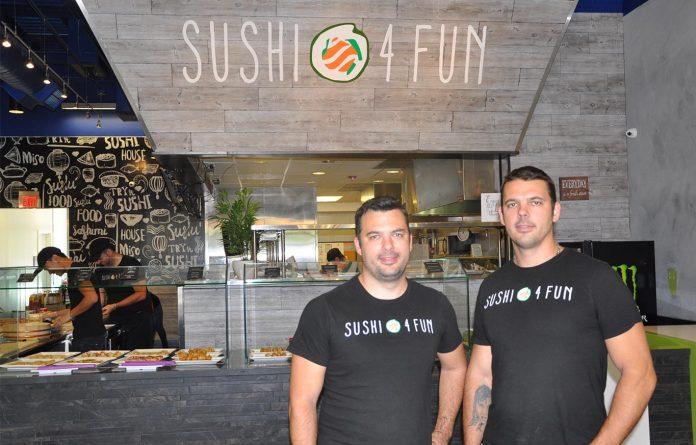 Thiago e Eric Lima são proprietários do Sushi 4 Fun