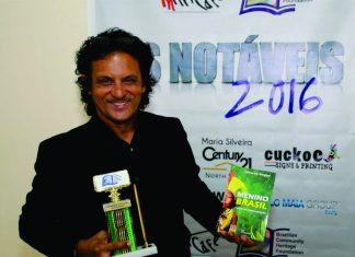 Durante o lançamento do livro Menino Brasil, Gilvan de Sergipe foi homenageado com o troféu Os Notáveis USA