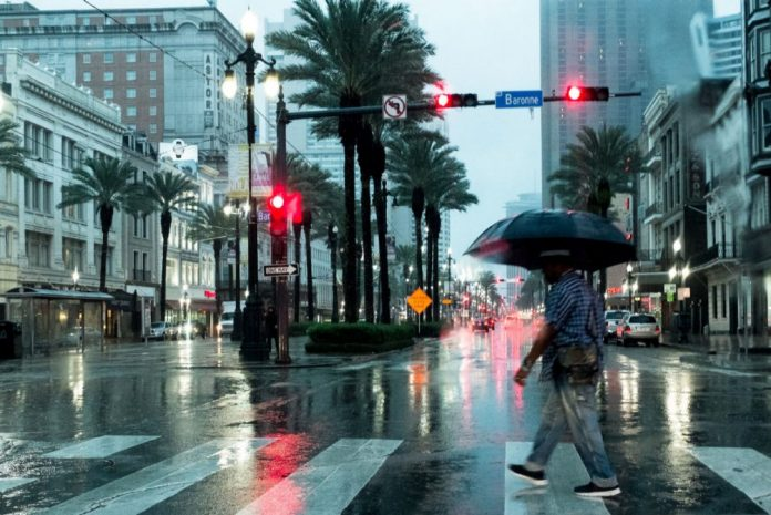 Fortes chuvas em New Orleans na Lousiana