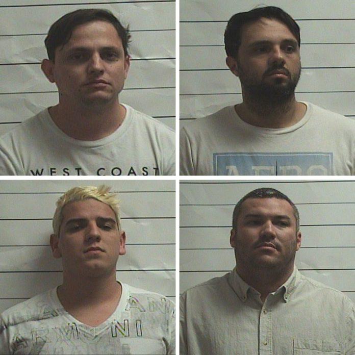 André Pereira, João Neto, Fernando Minguzzi e Harik dos Santos (sentido horário) estão presos