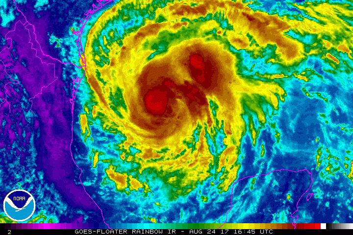 Intensidade do furacão Harvey sobe para categoria 3 — EUA