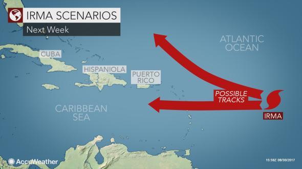 Irma já é furacão de categoria 2