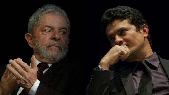 Ex-presidente Lula e o juiz federal Sérgio Moro