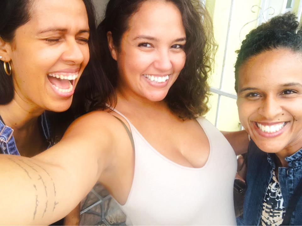 Tyhenna, Mari e Renata são mães, doulas e coordenam o projeto no Sul da Flórida