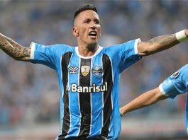 Barrios celebra gol contra o Botafogo