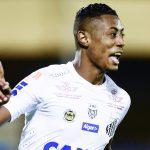 Bruno Henrique abriu o placar para o Santos diante do Barcelona de Guayaquil no duelo da Copa Libertadores da América