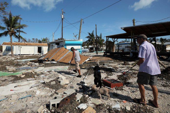Devastação causada pelo furacão Irma na região de Flórida Keys