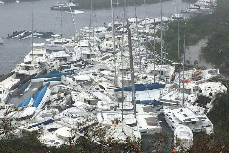 Irma causa destruição por onde passa