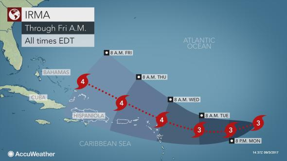 Furacão Irma faz dez mortos nas Caraíbas