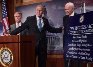 Os senadores James Lankford, Thom Tillis e Orrin Hatch