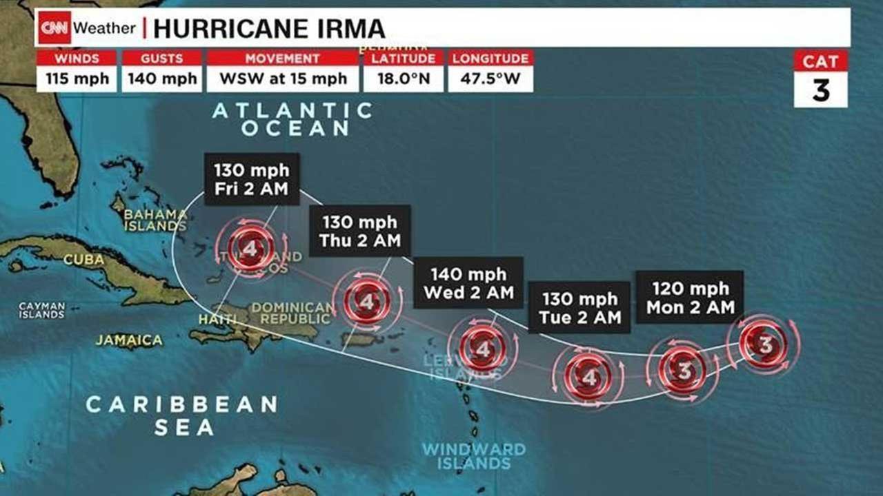 EUA: governador da Flórida decreta estado de emergência antes da chegada do furacão Irma