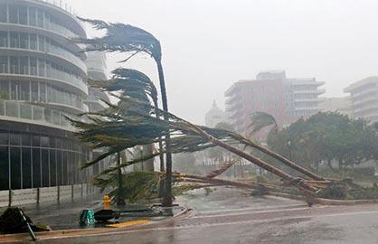 Trump alerta para furacão com