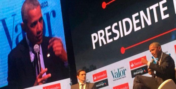 Ex-presidente dos EUA, Barack Obama, participou de evento em São Paulo