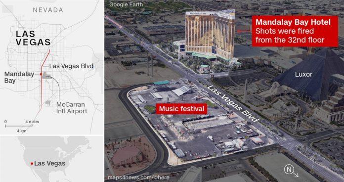 Infográfico mostra onde estava o atirador